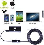 WiFi Endoscoop HD LED  Wire | Mini Camera met 5 meter Kabel | Waterdichte inspectie camera met LED Verlichting en Stevige Buigzame Kabel 5 meter