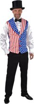 Landen Thema Kostuum | Gilet Stars And Stripes Man | Medium / Large | Carnaval kostuum | Verkleedkleding