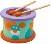 Sevi houten trommel junior multicolor 12 cm