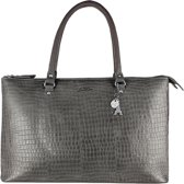 LouLou Essentiels-Laptoptassen-Bag Crocodilian-Grijs