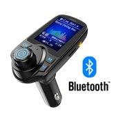 FM Transmitter Bluetooth Draadloze Carkit 2020 / MP3 Speler Mobiel / Handsfree Bellen / 4,5 cm Beeldscherm / AUX input / USB Lader / USB Flash Drive / Bluetooth Muziek / Audio / Radio / SD/TF Kaart / Carkit Adapter / T11D