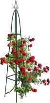 relaxdays obelisk rankhulp, metaal, 2 meter , ranken, rozenboog, klimplanten