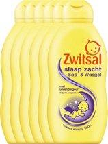 Zwitsal Slaap Zacht Bad- & Wasgel Lavendel - 6 x 200 ml - Voordeelverpakking