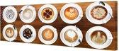 Koffie   - Schilderij 80 x 30 cm