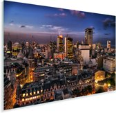 Buenos Aires verlicht tijdens een schemering in Argentinië Plexiglas 120x80 cm - Foto print op Glas (Plexiglas wanddecoratie)