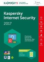 Kaspersky Lab Internet Security 2017 1gebruiker(s) 1jaar