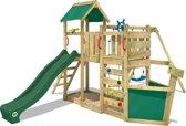 WICKEY OceanFlyer Groen - Kinder Speeltoestel met Schommel en Glijbaan