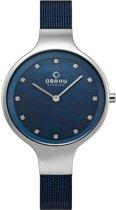 Obaku Denmark SKY V173LX CLML Horloge - Staal - Blauw - 32 mm