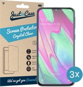 Just in Case Screen Protector Samsung Galaxy A40 - Crystal Clear - 3 stuks