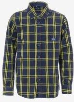 Tiffosi-jongens-overhemd/blouse Fluo-kleur: geel/blauw-maat 164