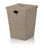 Wasmand vierkant taupe