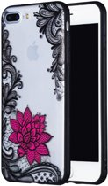 Apple Iphone 7Plus / 8Plus Mandala hoesje met roze bloem