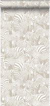 Origin behang zebra's grijs - 346837