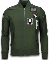 David Copper BomberJack Heren - Exclusive Airborne Patches - Groen - Maten: M