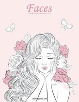 Faces Coloring Book for Grown-Ups 4, 5 & 6