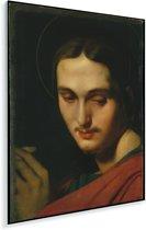 Johannes de Evangelist - Schilderij van Jean Auguste Dominique Ingres Plexiglas 80x120 cm - Foto print op Glas (Plexiglas wanddecoratie)