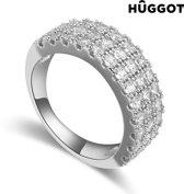 Hûggot Koningin Ring van geplateerd rhodium met zirkonen 18,1 mm