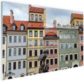 Zeemeermin Warschau Glas 30x20 cm - Foto print op Glas (Plexiglas wanddecoratie)