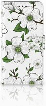 Motorola Moto E5 Boekhoesje Design Dogwood Flowers