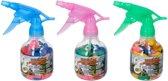 Waterspuit flesje met 50 gekleurde waterballonnen zelfsluitend - Waterballonpomp/vuller met waterbommen zomer speelgoed