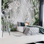 Fotobehang Luxury Ornamental Design Diamonds Green | V4 - 254cm x 184cm | 130gr/m2 Vlies