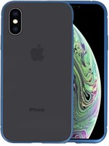 Magnetic Back Cover voor iPhone XS Blauw - Transparant