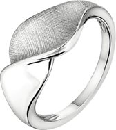 The Jewelry Collection Ring Gescratcht Poli/mat - Zilver