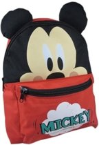 Disney Rugzak Mickey Mouse Oortjes Rood 24 X 10 X 30 Cm