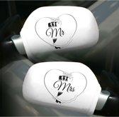 Folat Autospiegel hoezen - Mr & Mrs - 2 stuks