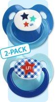 Lief! Lifestyle Set van 2 spenen in verpakking - Boy