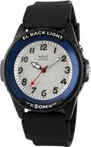 West Watch – analoog horloge - model River – zwart/ blauw