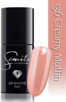 136 UV Hybrid Semilac Creamy Muffin 7 ml.