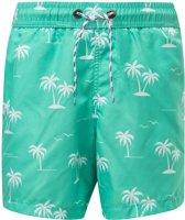 Snapper Rock Boardshort jongens - Morada Palm - Turquoise - maat 98-104
