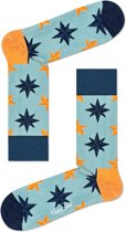 Happy Socks Nautical Star Sokken - Lichtblauw - Maat 41-46