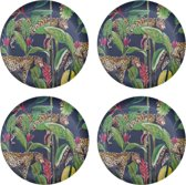 4 x Bamboe dinerbord 26 cm Panter Wild Jungle Stories
