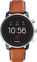 Fossil Q Explorist HR smartwatch Blauw