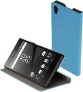 Blauw slim booktype flipcover Sony Xperia Z5 hoesje