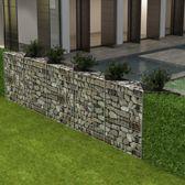 vidaXL Schanskorf/plantenbak/verhoogde moestuin staal 330x30x100 cm
