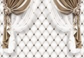 Fotobehang Brown Curtains | L - 152.5cm x 104cm | 130g/m2 Vlies