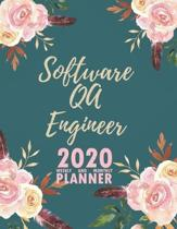 Software QA Engineer 2020 Weekly and Monthly Planner: 2020 Planner Monthly Weekly inspirational quotes To do list to Jot Down Work Personal Office Stu