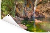 Mooie watervallen in het Nationaal park Kakadu in Australië Tuinposter 90x60 cm - Tuindoek / Buitencanvas / Schilderijen voor buiten (tuin decoratie)