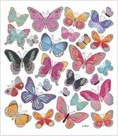 Stickers vel 15x16 5 cm 27 stuk vlinders 1vel