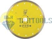 M&H diatools Diamant Slijpschijf Diamantschijf Doorslijpschijf Droog Zaagblad turbo universeel 200mm X asgat 22,2mm-voor droog en nat werk-Diamantgereedschappen