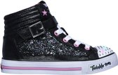 Skechers Shuffles Glitter Girly Sneakers Kinderen  Black Hot Pink
