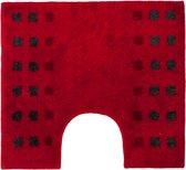 Floris Brica - WC mat - Rood - 60 x 60 cm