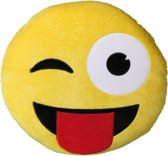 Emoticon kussen tong 30 cm