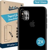 Just in Case Tempered Glass voor de Apple iPhone X / XS Camera Lens - 2 stuks