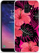Galaxy A6 2018 hoesje Tropical Flowers