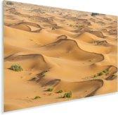 Zandduinen in het duinlandschap Erg Chebbi bij Merzouga in Marokko Plexiglas 90x60 cm - Foto print op Glas (Plexiglas wanddecoratie)