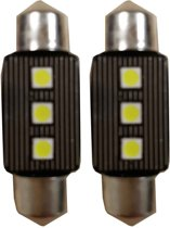 Canbus LED 3SMD C5W 36mm Binnenverlichting 6000k Wit